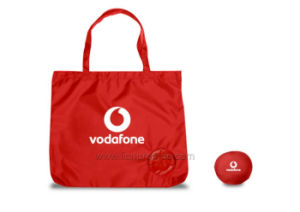 Vodafone Promotional Git Folding Polyester Shopping Bag pictures & photos