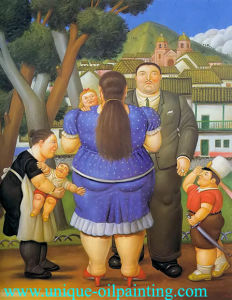 Oil Painting, Fernando Botero Oil Painting, Handmade Oil Painting