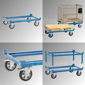 China heavy duty movable pallet transport trolley cart for Movable pallets