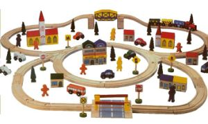 Wooden Deluxe Railway Set (WD8255)