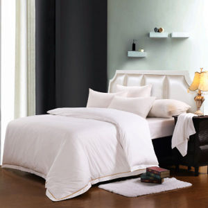 100% Cotton Embroidery Luxury Hotel White Hotel Duvet Cover Set Quality King Queen Size Bed (DPFB8091) pictures & photos