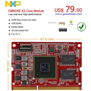 Imx6 Dual X2 Core Module I  Mx6 Embedded Board Linux Android Mipi  Csi/Dsi/PCI