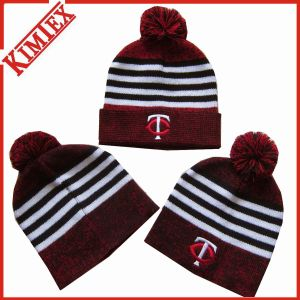 Promotional Acrylic Jacquard Knitted Marled Beanies pictures & photos
