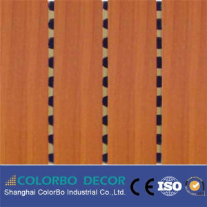 Meeting Room MDF Sound Absorb Grooved Wood Acoustic Panel pictures & photos