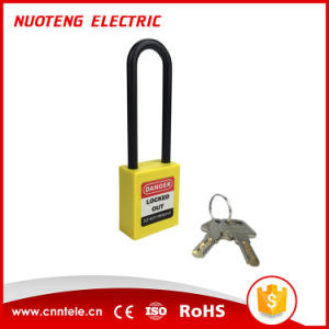 76mm Plastic Long Shackle Safety Padlock