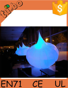 Colorful Inflatable Garlic with LED Light for Giant Inflatable Christmas Light Bulb