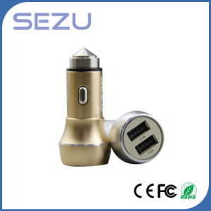Emergency Metal Safety Hammer Car Charger with Dual USB for Mobiles pictures & photos