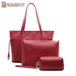 Newest 3in1 Saffiano Cow Leather Design for Ladies Shoulder Bags pictures & photos