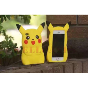 2016 Hot Cartoon 3D Pikachu Silicone Phone Cover/Case for iPhone/Samsung