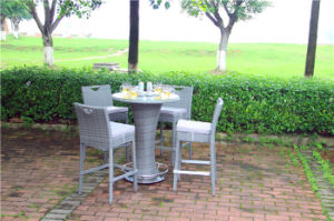 Outdoor Garden Rattan Bar Table and Chair