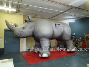 Lively Inflatable Rhinoceros Animal Cow with Logo Printing