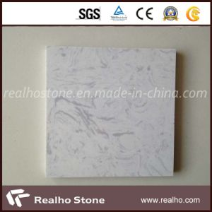 Carrara White Engineer Artificial Marble with White Grey Veins