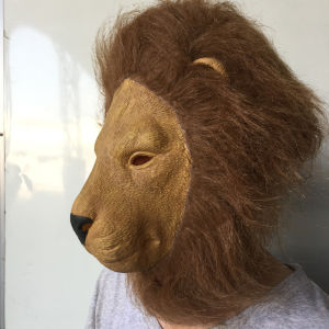 Hot Funny Chicken Head Mask Animal Costume Lion Theater Prop Novelty Latex Rubber Cove
