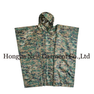 G. I. Type Military Rectangle Polyester Green Poncho (HY-RC002) pictures & photos