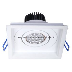 COB Recessed Square Aluminum LED Downlight with CE RoHS (S-D0009)
