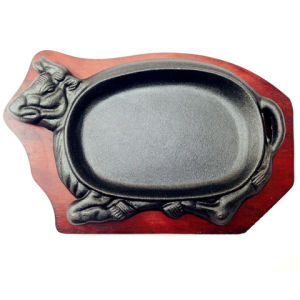 China Cast Iron Sizzle Platter Or Serving Tray