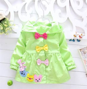 The Child Coat Candy Color Coat / Cotton Imitation Ribbon Hoodie Coat/Wholesale and Retail Girls Coat Kd1120 pictures & photos