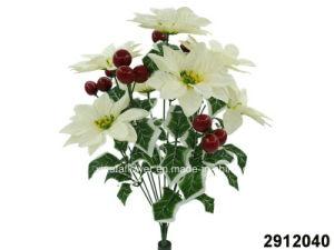 China Artificialplasticsilk Flower Poinsettia Apple Bush 2912040