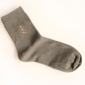 Men Combed Cotton Socks Factory pictures & photos