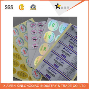 Anti-Counterfeiting Pet Silver Label Printing Sticker for Electronic Product pictures & photos