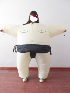 Qh-122 Adult Airblown Inflatable Fat Sumo Wrestler Halloween Costume Fancy Dress Jumpsuit & China Qh-122 Adult Airblown Inflatable Fat Sumo Wrestler Halloween ...