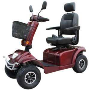4 Wheels 12V 55ah Brush Moter Handicapped Electric Scooter pictures & photos