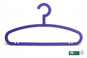 Purple Flat Solid Plastic Hanger pictures & photos