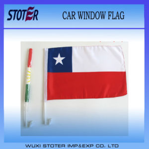 Custom Polyester Chile Car Flag with Pole