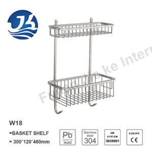 High Quality Stainless Steel Bathroom Hardware Net/ Storage Rack Shelf (W18)