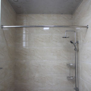 Stainless Steel Straight Shower Curtain Rod Set