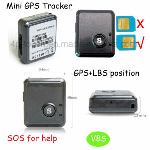 Newest Mini Personal GPS Tracker Device with GPS+Lbs+Agps (V8S) pictures & photos