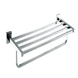 Wall Mounted Brass Towel Rack Shelf with Single Bar