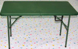 Green Army Used Folding Table/4FT Camping Furniture Picnic Table Foldig in Half Outdoor Table for Army