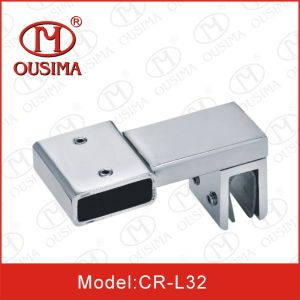 Stainless Steel Square Shower Glass Door Fitting