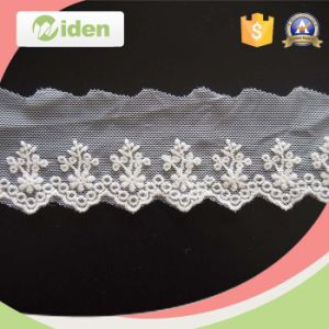 Fancy New Inian Jacquard Embroidery Lace Designs Organza Lace Trim pictures & photos