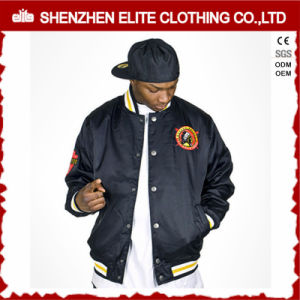 Custom Embroidered Quilted Bomber Jacket Hip Hop pictures & photos