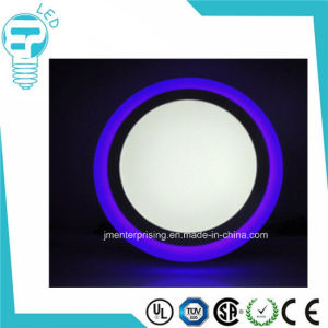 6+3W Round Double Color Housing LED Round Panel Light