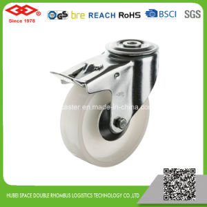 Swivel Bolt Hole with Brake Nylon Industrial Caster (G102-20D080X35S) pictures & photos
