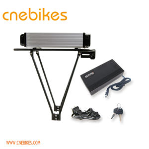 48V 15ah Electric Bike Rear Rack Type Lithium Battery with Charger