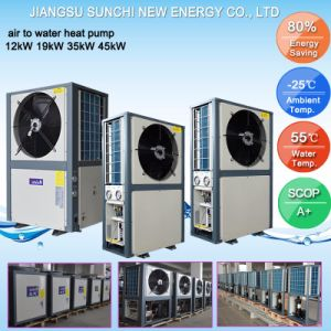 Family Dhw 60deg. C Sanitary Water 3kw, 5kw, 7kw, 9kw Split Type Air Source Heat Pump (CE, CB, TUV, EN14511, Australia certificate) pictures & photos