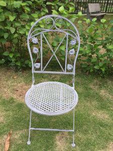 Unique Foldable White Metal Folding Garden Restaurant Chair (PL08 7475)