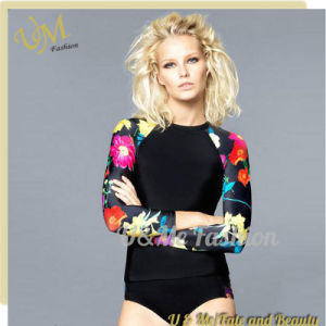 2c696d7abe1 Long Sleeves Printing Tankini Sport Women Bathing Suits Swimsuits