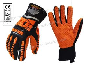 Seibertron High-Vis Sdxo2 Supergrip and Gel Filled Oilproof and Waterproof Impact Protection Gloves