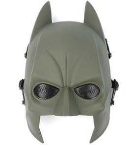 AIRSOFT TACTICAL SAFETY BATMAN HALF FACE MASK HUNTING WAR GAME PROTECTION MASK