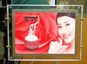 Hanging Double Side Acrylic LED Backlit Ultra Thin Light Box pictures & photos