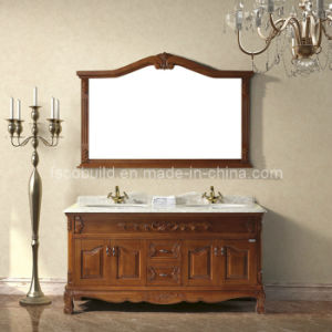 China Double Sink Bathroom Cabinet