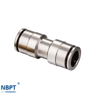 Pneumatic Push-in Fittings with Brass/Nput Nput