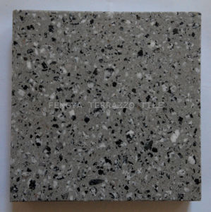 China Black Mix White Terrazzo Floor Tile Terrazzo Tile For
