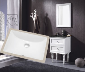 The Hot Sale Cupc Rectangular Undermount Bathroom Sink in USA Market (SN018)