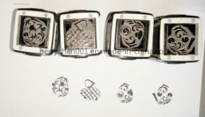 Self Inking Hand Palm Stamp of Bunnies in Teacups pictures & photos